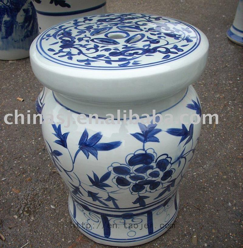 Blue And White Ceramic Garden Stool Ryaz321 Jingdezhen