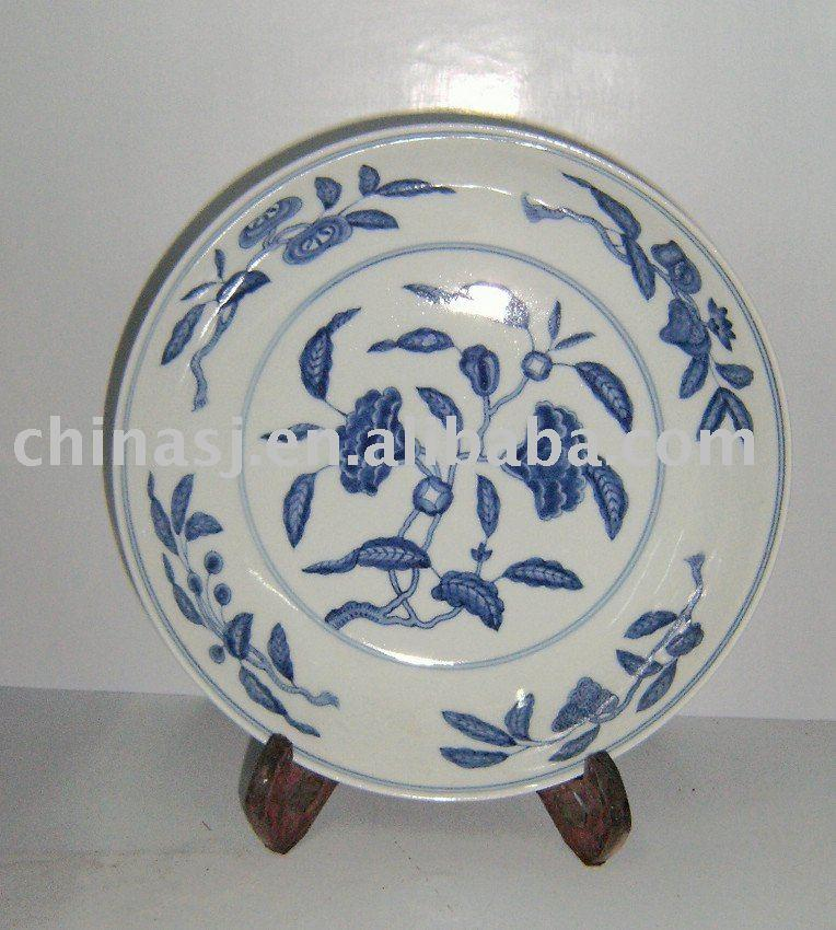 Blue and White porcelain China plate WRYAS52