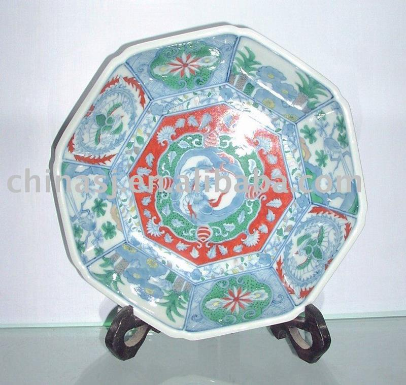 CHINESE ANTIQUE DECORATIVE PLATE WRYAS39