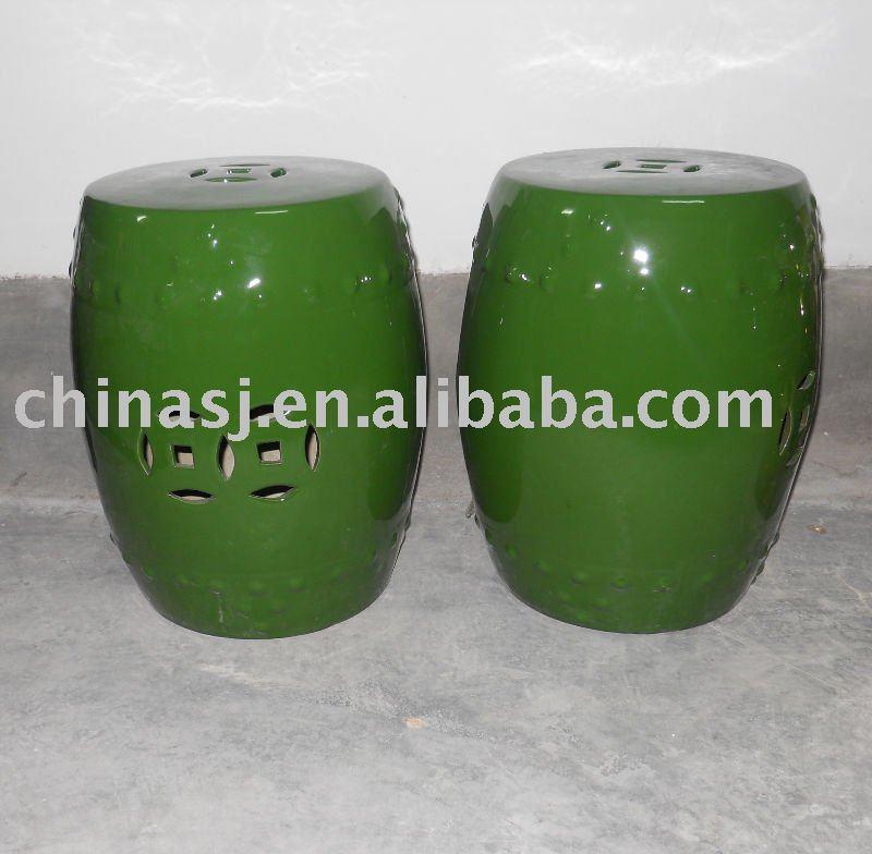 Ceramic Garden Stool Green Porcelain side stand table