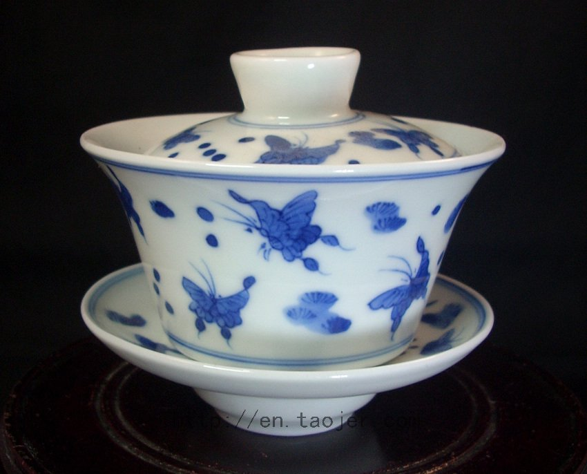 DYNASTY Jingdezhen Porcelain Gaiwan 100cc Qing Hua RYV86