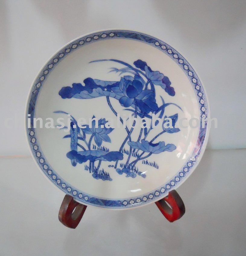 Handmade porcelain blue and white plate WRYAS60