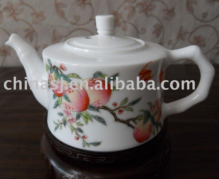 Lovely peach porcelain tea pot WRYAG40