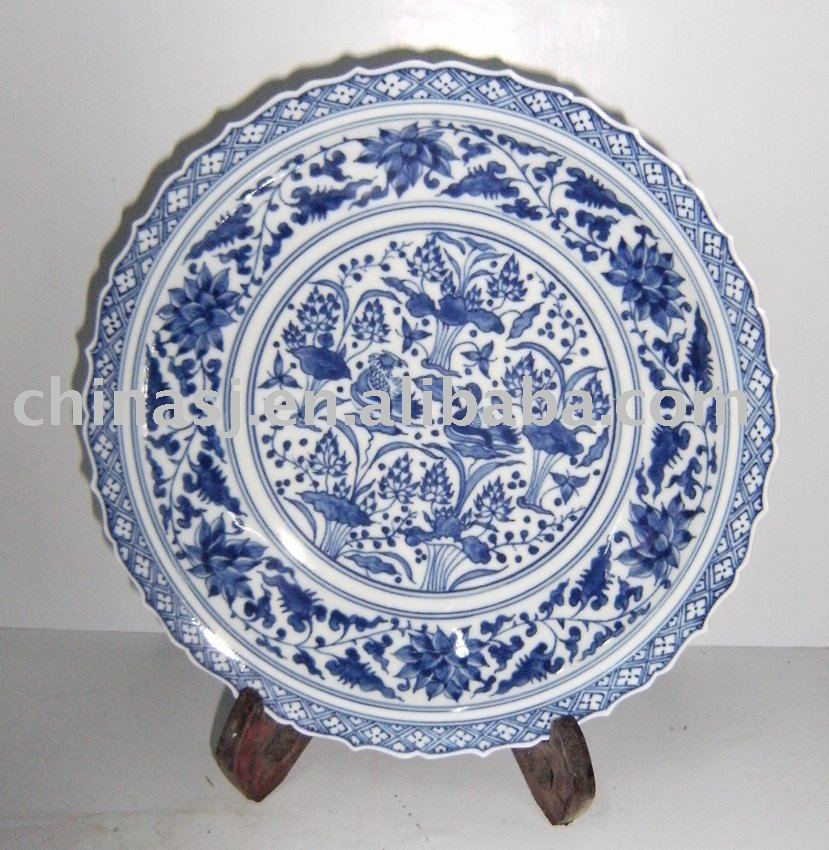 Wall plate Blue and White WRYAS53