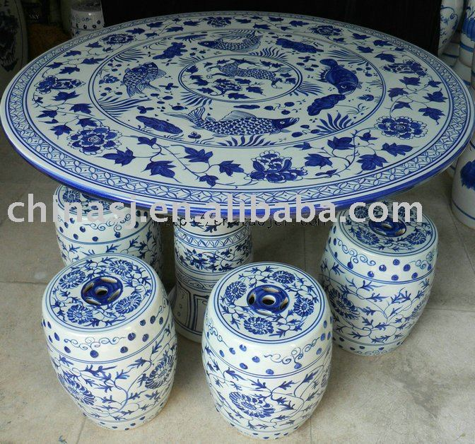Blue And White Chinese Porcelain Garden Table Stool WRYAY24 | Jingdezhen  Shengjiang Ceramic Co., Ltd.::jingdezhen Hand Painted Ceramics Porcelain