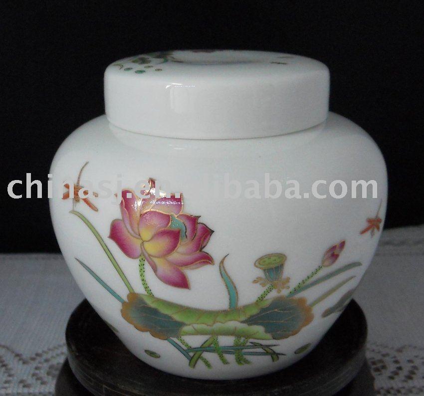 chinese antique ceramic tea caddy RYN43